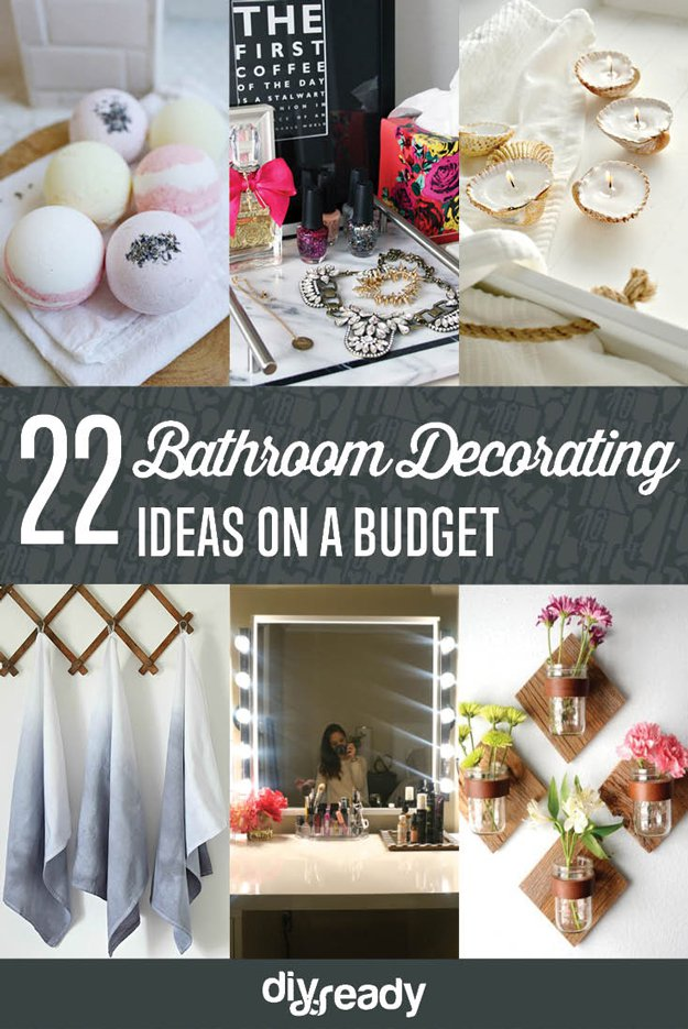 Diy bathroom decorating ideas for Bathroom decorating ideas on a budget